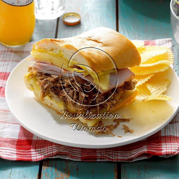 Pressure-Cooker Cuban Pulled Pork Sandwiches
