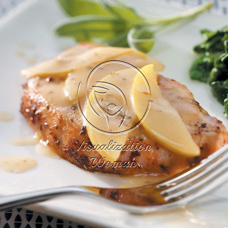 Glazed Pork Chops and Apples